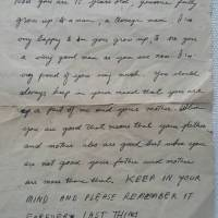 Letter from my dad